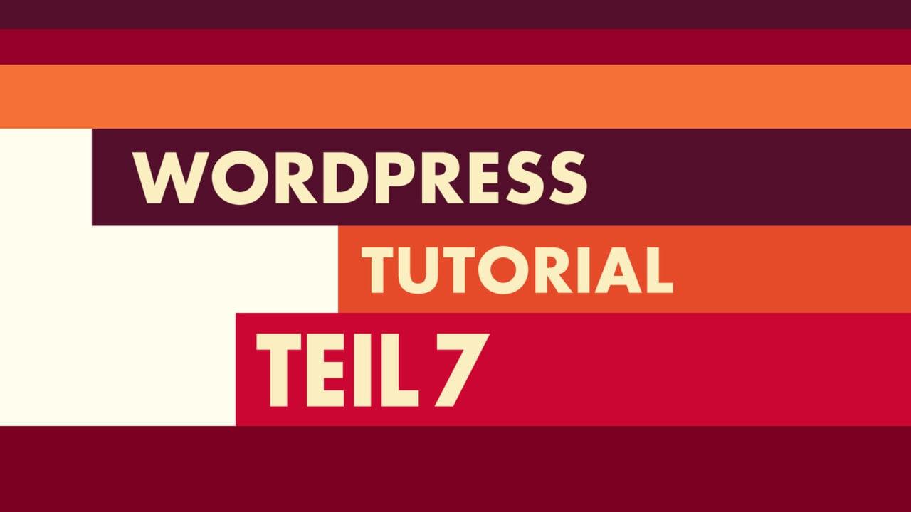 WordPress Video-Tutorial Teil 7: Header und Hauptmenü eines Themes
