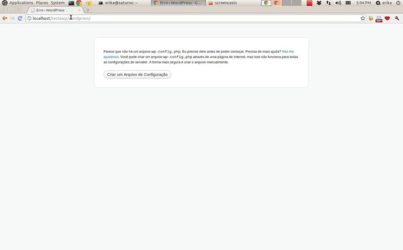 Tutorial – instalação do WordPress