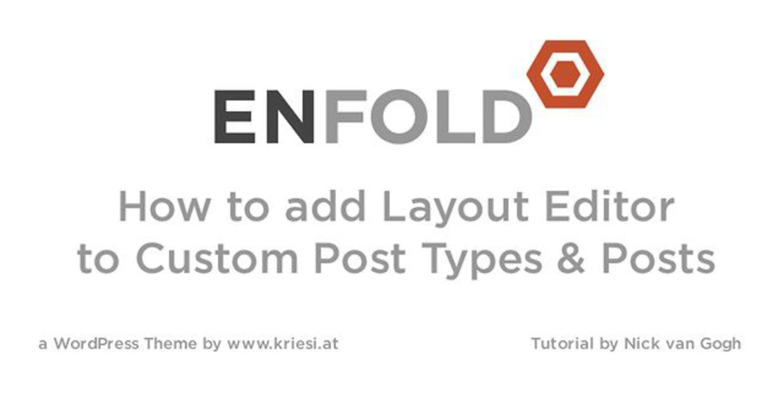 Enfold Theme Tutorial: Adding Layout Builder to Custom Post Types and Posts