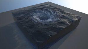 RealFlow's 2015 maelstrom simulation. Hybrido