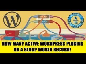 The highest number of WordPress plugins active on a blog (World Record)