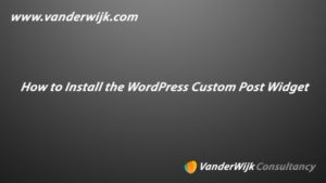 WordPress Custom Post Widget Plugin