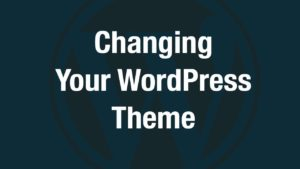 Changing Your WordPress Theme