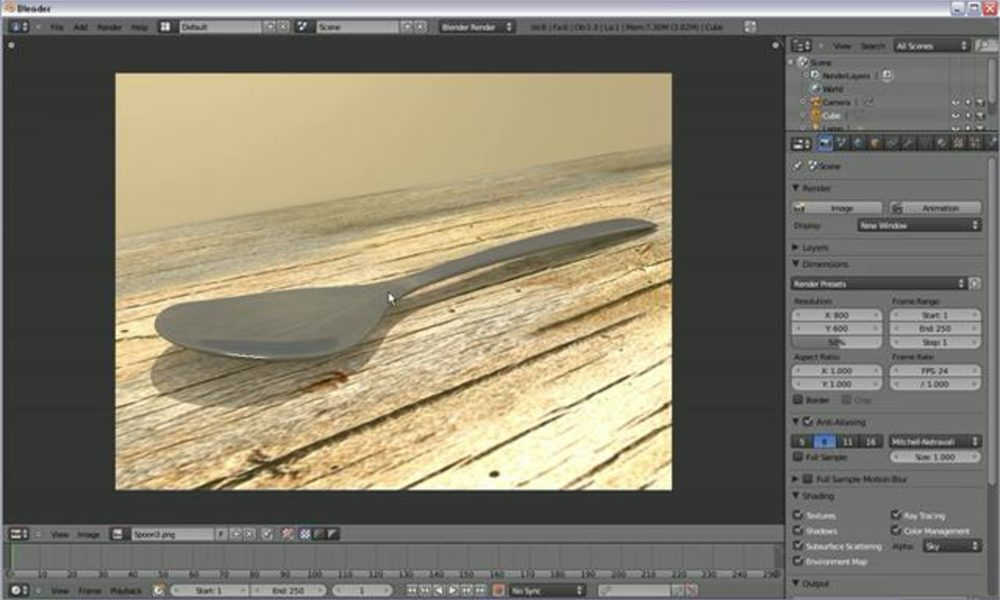 Modeling a Spoon in Blender 2.5