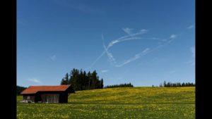 Kuriosität am Himmel über Haslach / Bayern / 12.04.2017