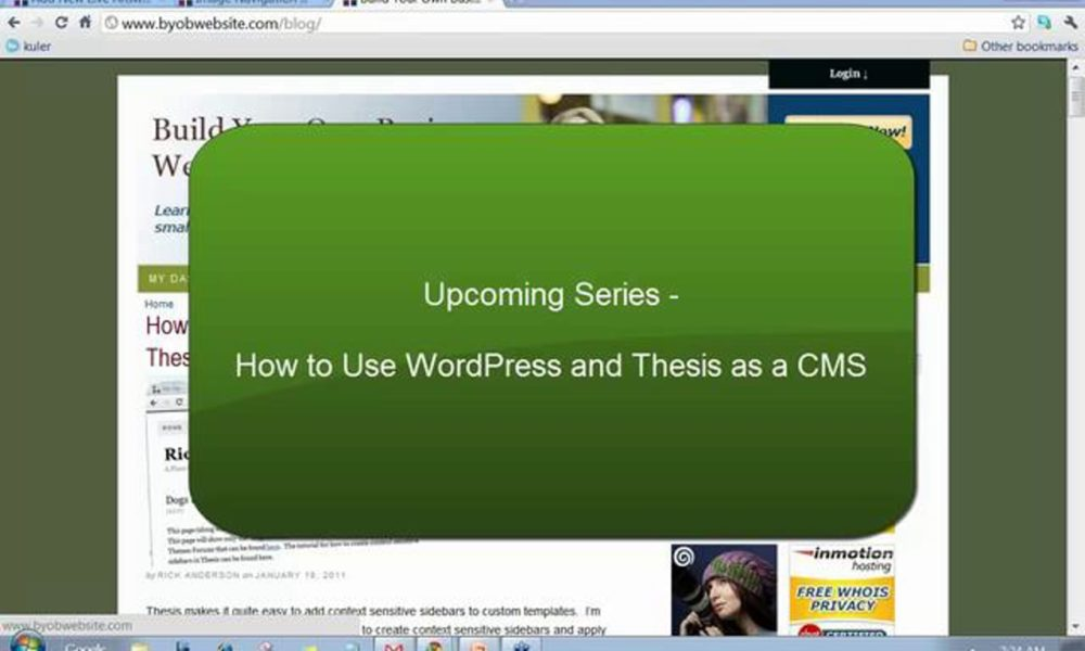 Thesis as a CMS – Upcoming Tutorial Series