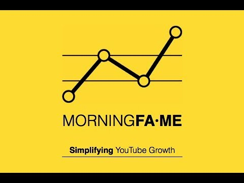 A new tool to help grow your YouTube channel: Morningfame!