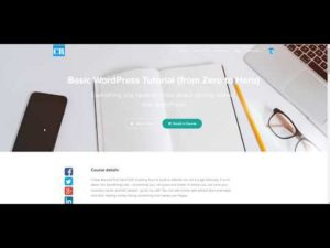 New course available: Basic WordPress Tutorial (from Zero to Hero) by CodeRevolution
