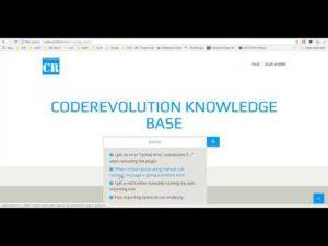CodeRevolution Knowledge-Base Website
