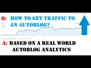 How to grow traffic for an autoblog – explanation with a real world example