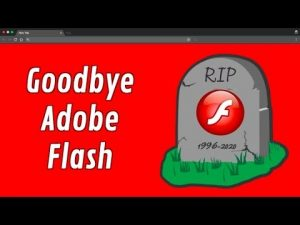 Flash player end of life announced: December 2020