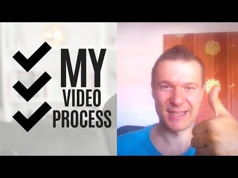 My routine steps of uploading new videos to my YouTube channel