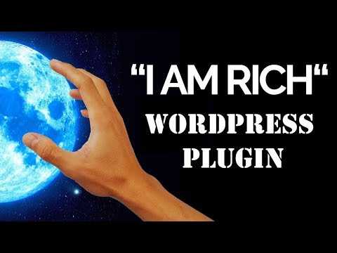 "Video tutorial for the ""I Am Rich"" plugin I created"