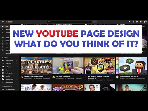 YouTube front page got redesigned! Do you like the new looks of YouTube?