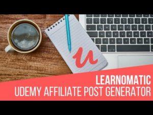 Learnomatic – Udemy Affiliate Post Generator Plugin for WordPress