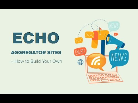Create an news aggregator website using the Echo RSS plugin: link imported posts to their source