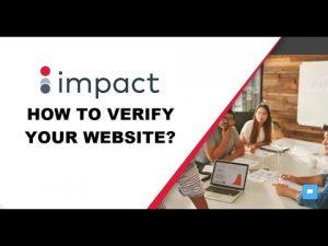 How to verify your website on Impact Radius?