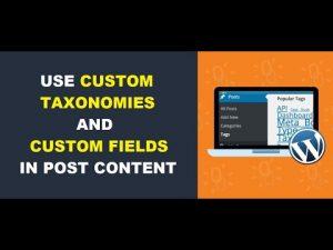 Use Custom Taxonomies and Custom Fields in Automatic Content Editing – Kraken plugin update