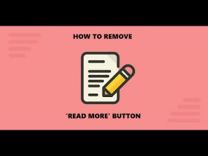 Newsomatic: Hot to remove the 'Read More' button from the end of generated posts?