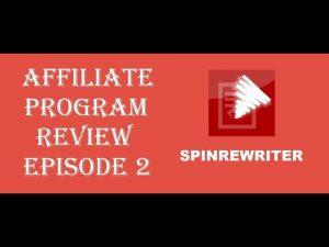 "Affiliate Program Review Episode 2: ""SpinRewriter"""