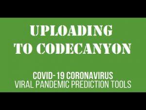 Uploading a new plugin to CodeCanyon: COVID-19 Coronavirus – Viral Pandemic Prediction Tools