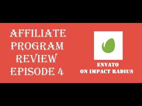 """Affiliate Program Review Episode 4: """"Envato on Impact Radius"""""""