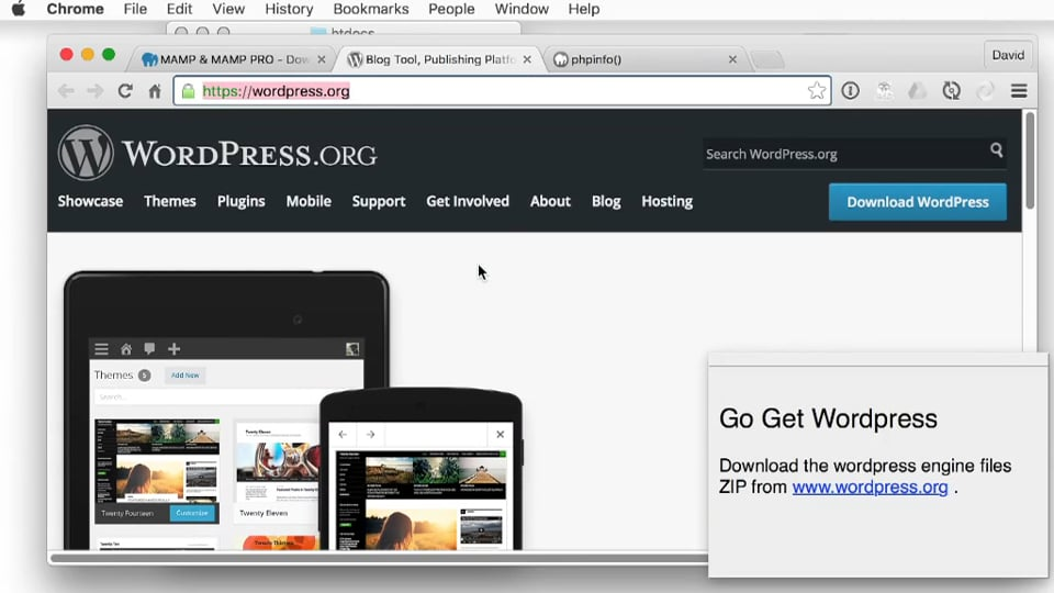 Install WordPress with MAMP