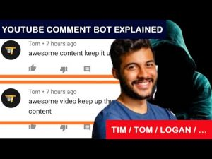 """Explanation of the Logan/Tim/Tom Comment Bot from YouTube: """"wanna be friends?"""" """"loved it"""""""