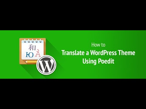How to create a pot file to translate your WordPress themes or plugins (using Poedit)?