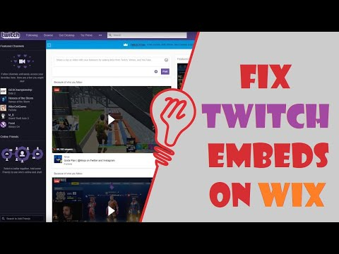 How to fix Twitch iframe embeds on Wix websites?