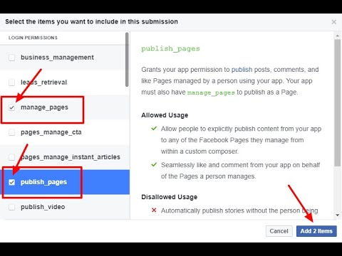How to submit a Facebook app for review to get the manage_pages permission
