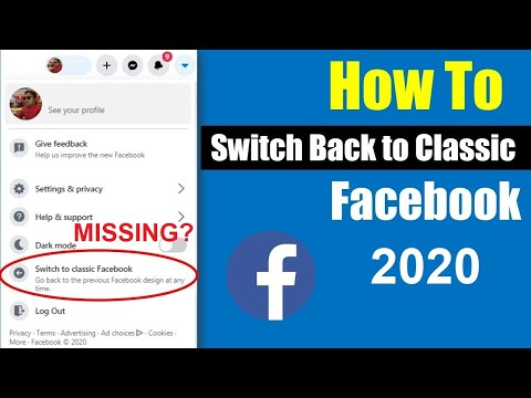 [Alternative Method] How to switch back to old Facebook layout 2020 edition