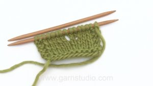 How to increase with a yarn over (yo)