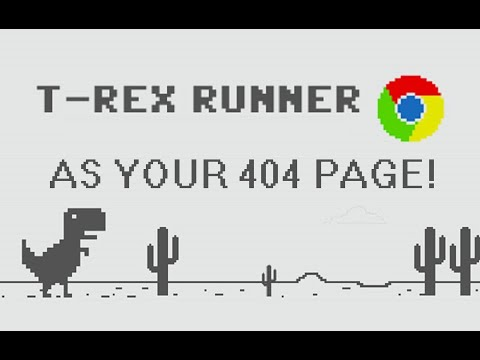 "How to add Google's ""Dinosaur Game"" as a 404 page to your WordPress website?"