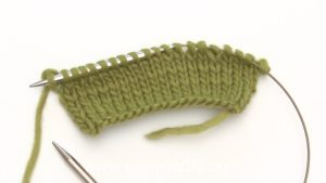 How to knit back to loop (twisted stitch)