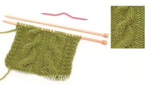 How to knit a cable with a cable needle