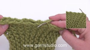How to sew garter stitch pieces together