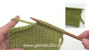 How to pick up stitches along edge