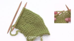 How to knit short rows (basic method)
