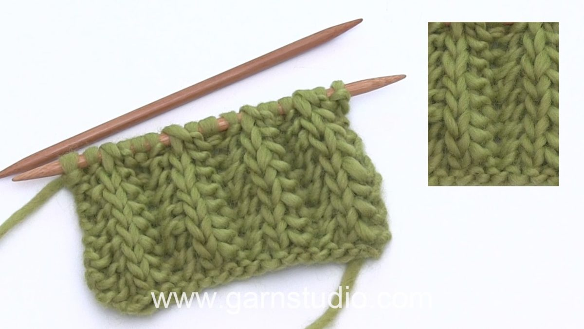How to work English rib variation with every other stitch garter stitch