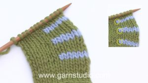 How to knit short rows with wrap on right side (RS)