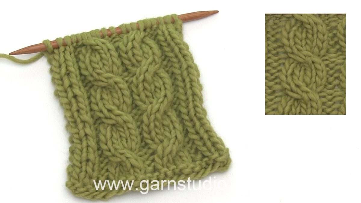 How to knit a cable over 4 sts without a cable needle