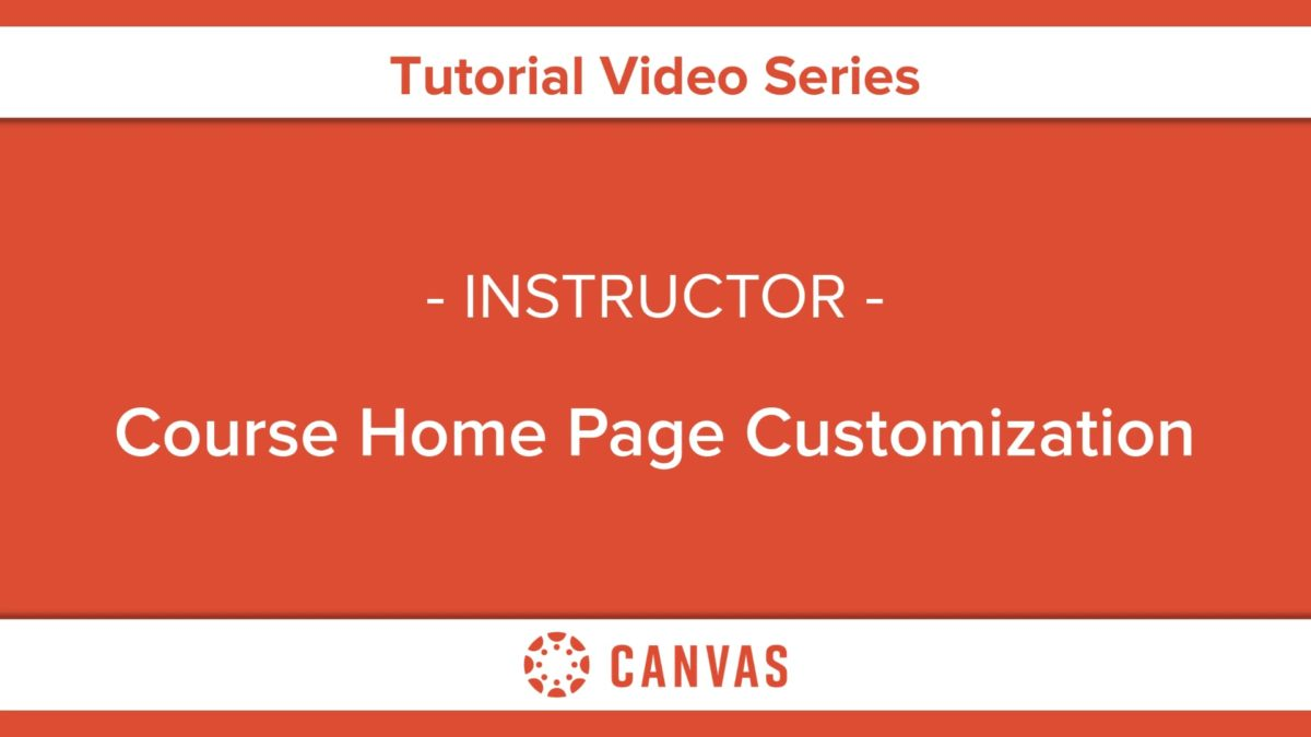 308 – Course Home Page Customization