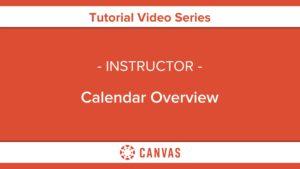 314 – Calendar Overview