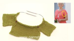 How to knit raglan back and forth