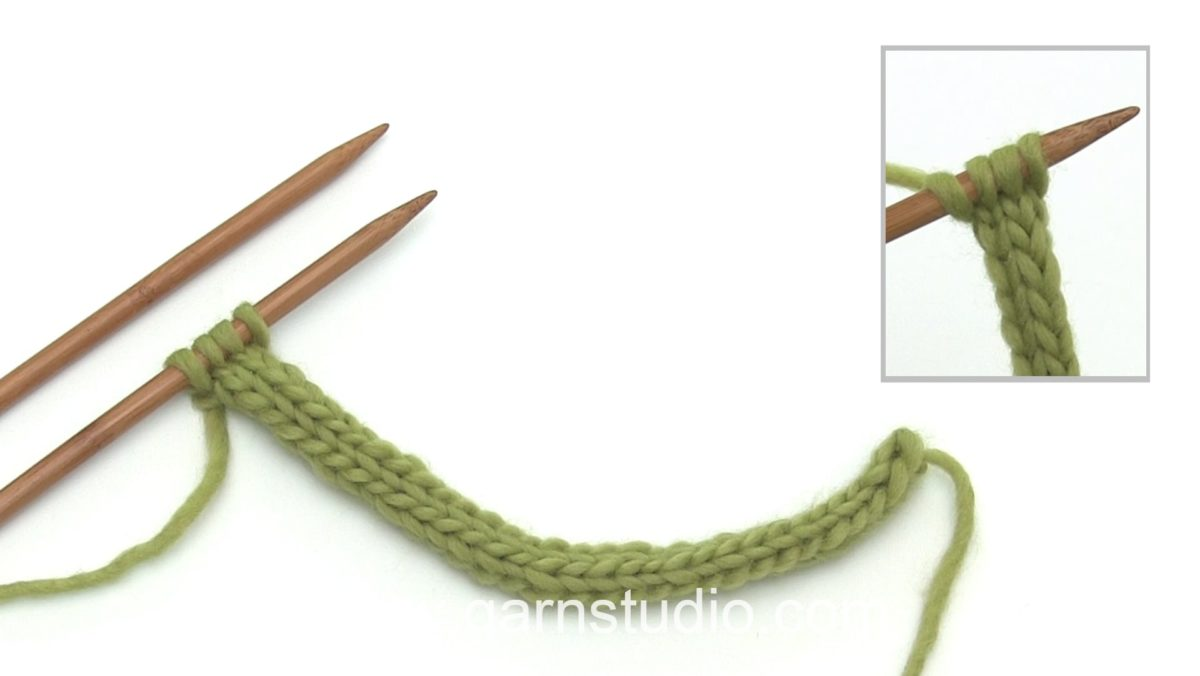 How to knit an I-cord from the right side (RS)