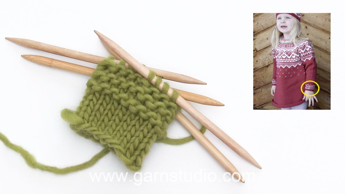 How to knit garter stitch in the round on double pointed needles