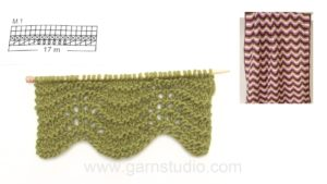 How to knit a wave pattern