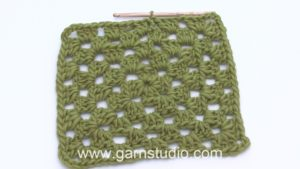 How to crochet a granny square back and forth