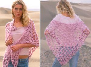 How to crochet a love knots triangle